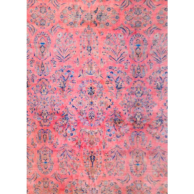 Persian 1920 Persian Kashan Rug For Sale - Image 3 of 9