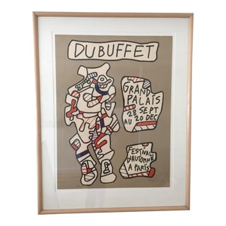 Jean Dubuffet Grand Palais Signed Numbered Modern Master Lithograph, 1979 For Sale