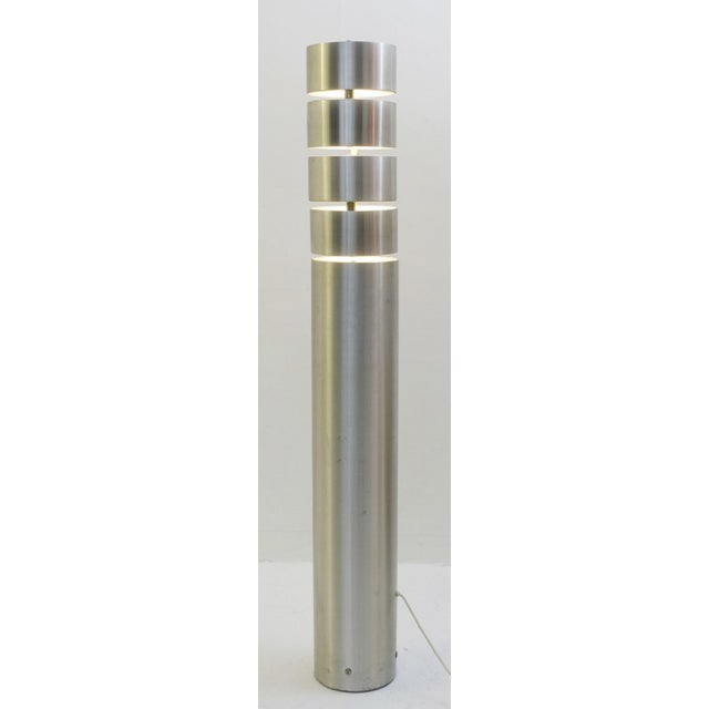 Brushed Metal Floor Lamp by Stilux, Milano, 1972 For Sale - Image 6 of 7