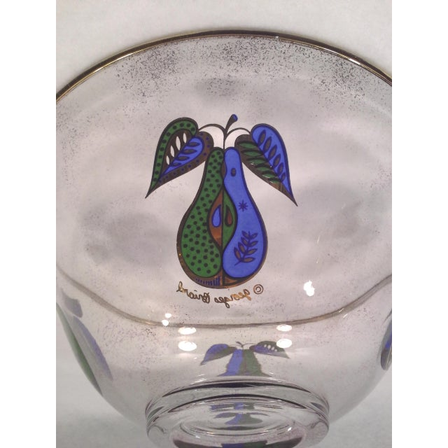 Georges Briard Fruit Motif Glass Bowl - Image 2 of 5