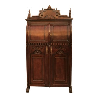 19th Century Victorian Mahogany Secretary Desk For Sale