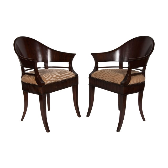 Solid Mazzard James Jennings Chairs - Pair of 2 For Sale