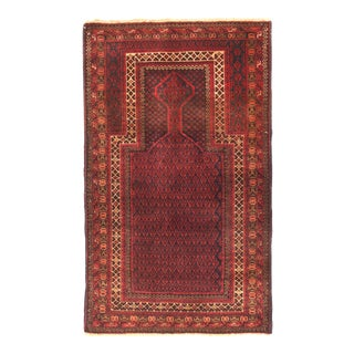 Vintage Afghan Balouch Tribal Rug For Sale