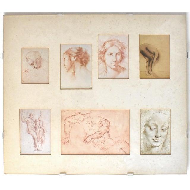 Vintage Framed Old Masters Figural and Portrait Sketches For Sale - Image 11 of 11