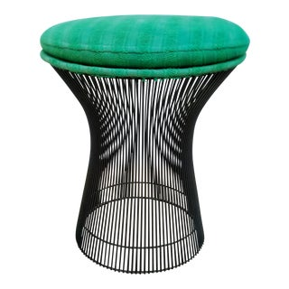 Warren Platner Style Black & Green Stool