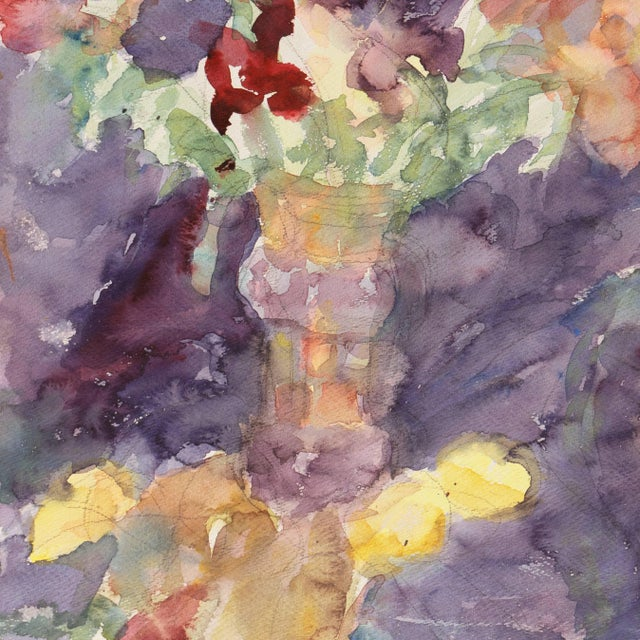 Watercolor 'Irises' by Janet Ament, California Post-Impressionist Woman Artist, Los Angeles County Museum of Art, Paris For Sale - Image 7 of 9