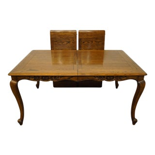 """French Provincial Century Furniture 98"""" Dining Table For Sale"""