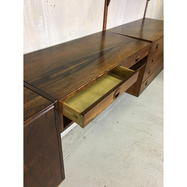 HG Danish Rosewood Wall Mounted Unit by Rud Thygesen and Johnny Sorenson For Sale - Image 9 of 13