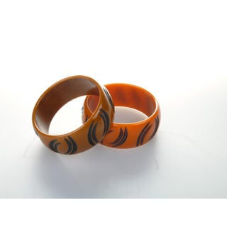 Art Deco Pair of Bakelite Bracelets From the 1930s Preview
