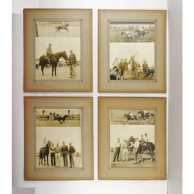 1950's Horse Race Photographs - Set of 4 For Sale In San Antonio - Image 6 of 6