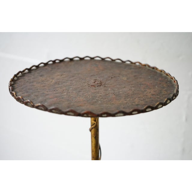 Small Iron Bistro Table For Sale - Image 4 of 7