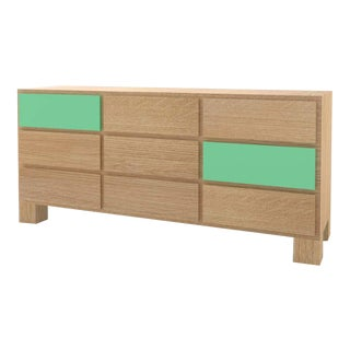 Contemporary 102C Storage in Oak and Mint by Orphan Work, 2020 For Sale