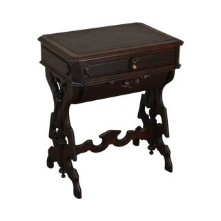 Victorian Walnut Antique Sewing Stand For Sale
