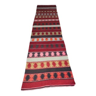 Oriental Turkish Kilim - 3' x 12'11""