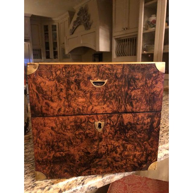Antique English Campaign Style Box For Sale In Dallas - Image 6 of 9