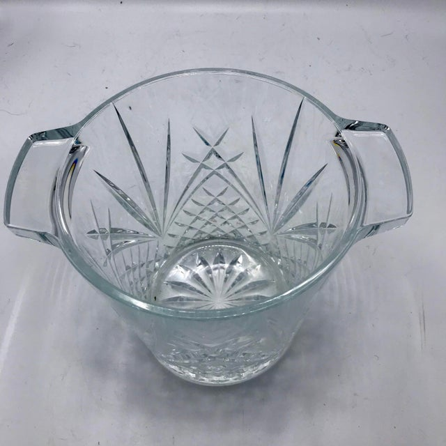 Mid-Century Cut Lead Crystal Ice Bucket / Champagne Cooler - Image 3 of 5
