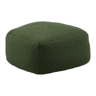 Cane-Line Divine Footstool, Dark Green For Sale