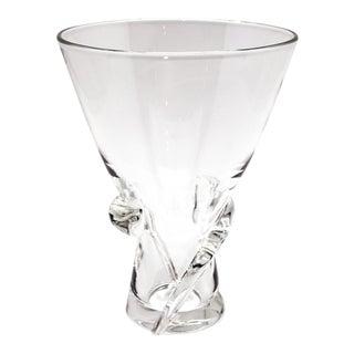 1970s Vintage Steuben Spiral Crystal Vase For Sale
