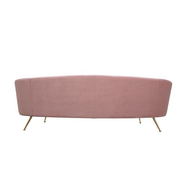 Pasargad Home Sorrento Lorenzo Velvet Sofa in Pink For Sale - Image 4 of 9