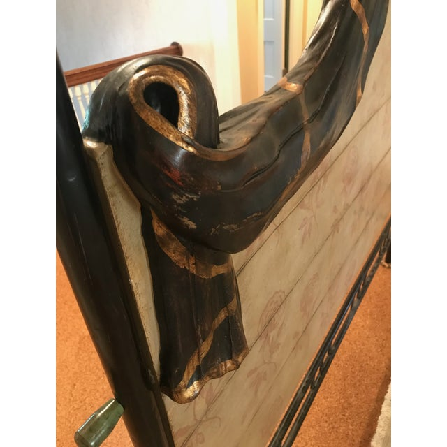 Traditional Hand Crafted Four Poster Bedframe For Sale In Pittsburgh - Image 6 of 10