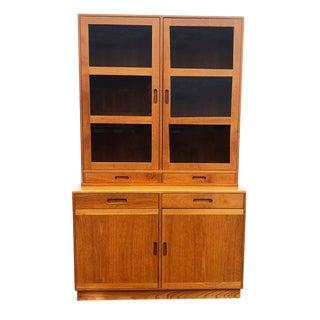 1980s Danish Modern Ansager Mobler Curio Cabinet For Sale