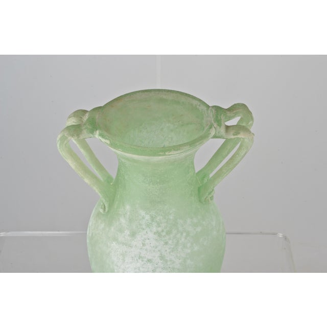 Glass Large Murano Scavo Vase For Sale - Image 7 of 8