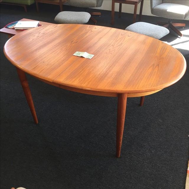Danish Teak Dining Table - Image 3 of 9