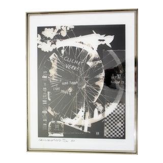 Mid-Century Modern Robert Rauschenberg Signed Photolithograph, 1980 52/200