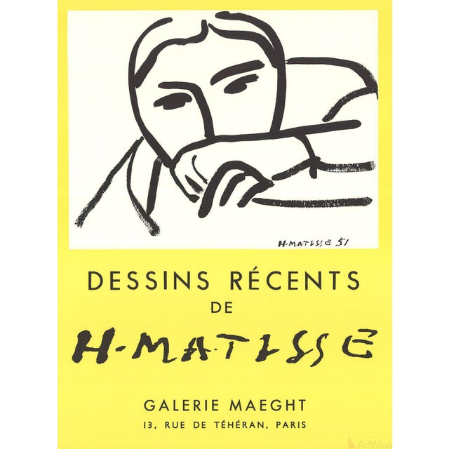Henri matisse- dessins recents: second edition exhibition poster for an exhibition of the works of henri matisse at...