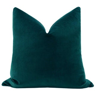 "22"" Teal Velvet Pillows - a Pair Preview"