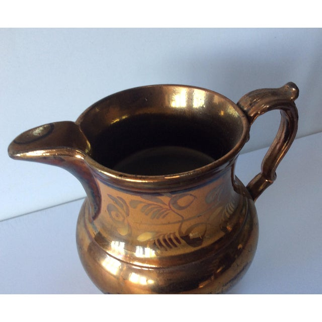 Very sweet English Victorian Copper Lustreware pitcher jug. Excellent.