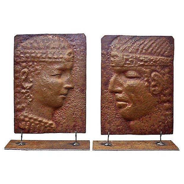 Peruvian Copper Silhouettes Reliefs - a Pair For Sale