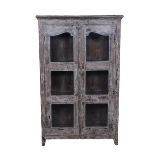 Rustic Wood Rique Cabinet