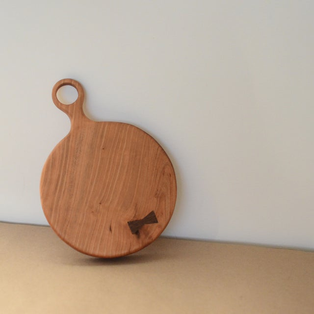 Small Cherry Board with Walnut Bowtie - Image 3 of 8