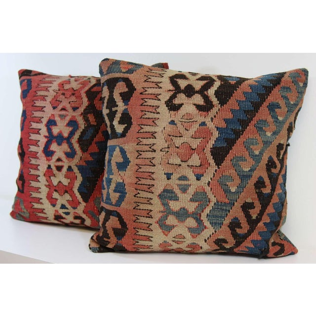 Turkish Vintage Pillow Covers - Pair - Image 4 of 6