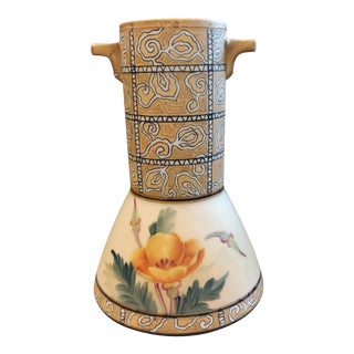 Early 20th Japanese Art Deco Porcelain Vase For Sale