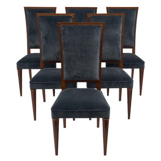 French Art Deco Period Mahogany Chairs - Set of 6 For Sale