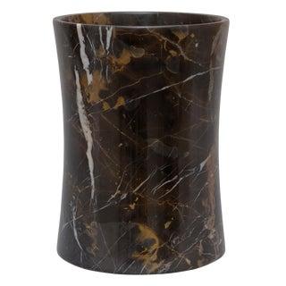 Black & Gold Marble Waste Bin
