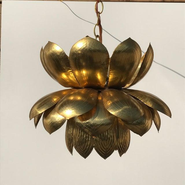 Feldman Brass Lotus Chandelier Lamp - Image 3 of 9