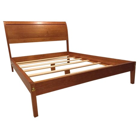 Thos. Moser Queen Size Sleigh Bedframe | Chairish