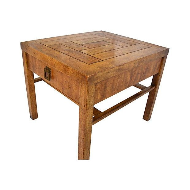 Campaign-Style Side Tables by Drexel - Pair - Image 6 of 7