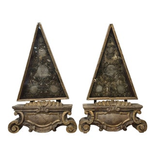 French Triangular Reliquaries - a Pair For Sale