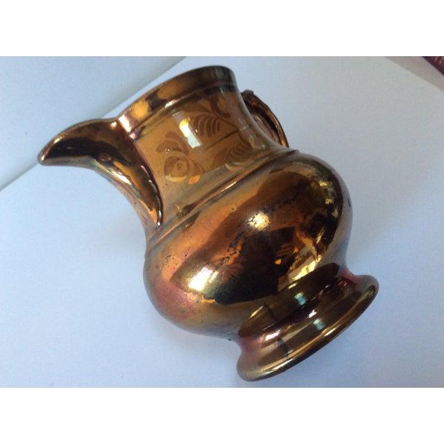 English Victorian Copper Lustreware Pitcher Jug For Sale - Image 4 of 8