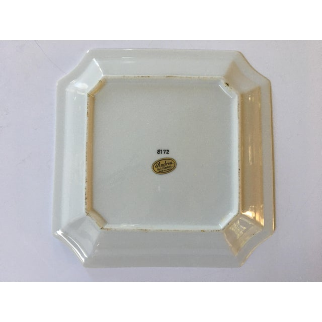 Hand Painted Asian Clipped Edge PorcelainTray/Catchall by Sadek - Made in Japan For Sale - Image 9 of 12