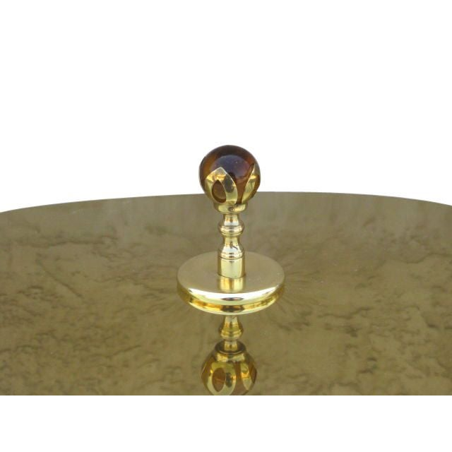 Curtis Jere Style Brass Table Lamp For Sale - Image 4 of 6