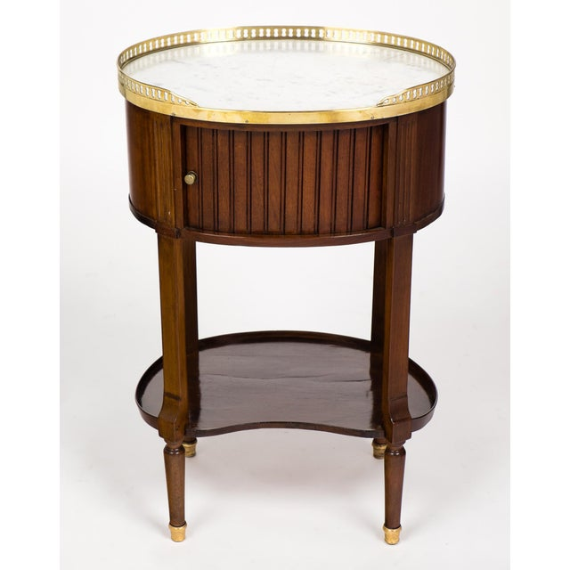 Louis XVI Marble-Top Mahogany Side Table - Image 3 of 10