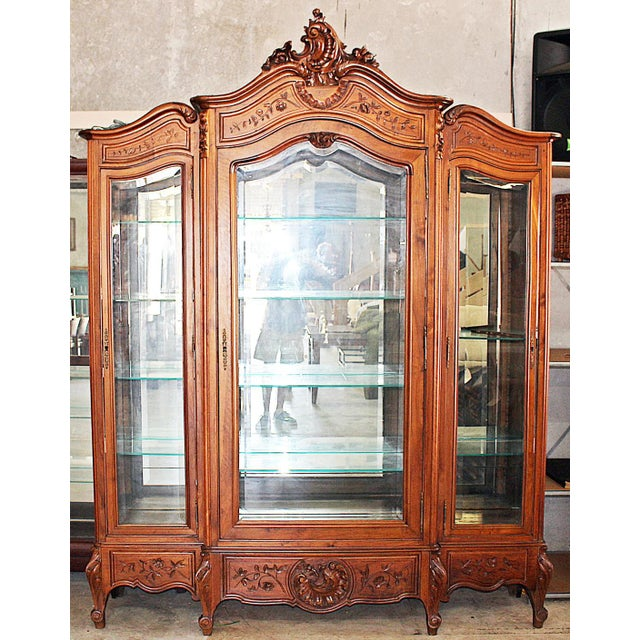 19th Century French Provincial 3-Door Armoire For Sale - Image 11 of 11