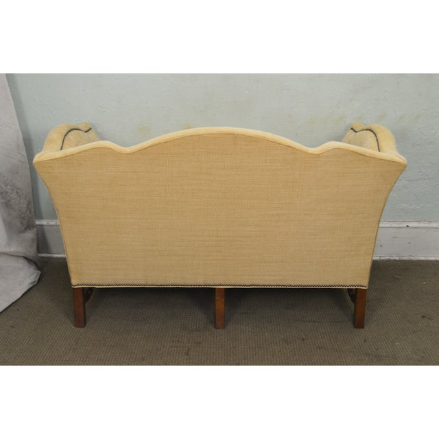 Wesley Hall William & Mary Style Custom Loveseat For Sale In Philadelphia - Image 6 of 13