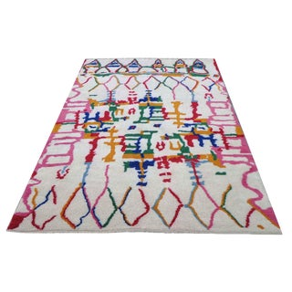 """21st Century Pasargad Moroccan Hand-Knotted Rug - 6′1"""" × 9′1"""" For Sale"""