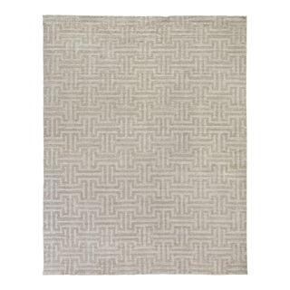 Exquisite Rugs Bazas Handwoven Cotton & Viscose Beige - 12'x15' For Sale